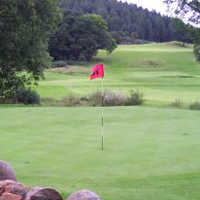 Golf in Scotland Attribution: Alex McLane Licence: CC 3.0 https://creativecommons.org/licenses/by-sa/3.0/deed.en - Original: https://commons.wikimedia.org/wiki/File:Hole_10_Aberfoyle_Golf_Club,_Scotland_2008.JPG